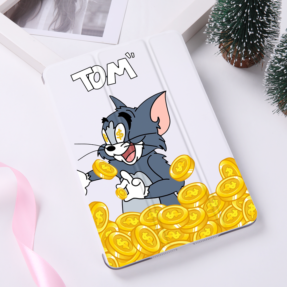 Купить с кэшбэком Cartoon Case for ipad Mini 2 3 4 PU Leather Cover Stick Figure Creative Case For iPad Air 2 3 12.9 11 9.7 inch ipad pro 2018