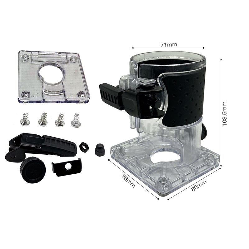 Power Tool Accessories For Makita 3703 Trimming Machine Transparent Cover Shell