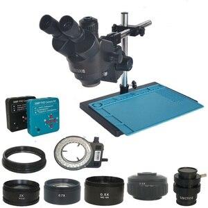 Image 1 - 38mp hdmi digital usb microscopio câmera 3.5x 90x simul focal trinocular microscópio estéreo de solda pcb kit de reparo de jóias