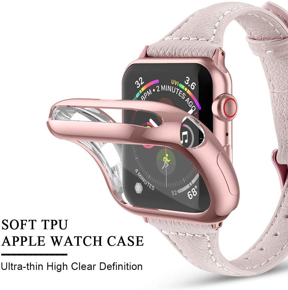 <font><b>Watch</b></font> Cover <font><b>case</b></font> For Apple <font><b>Watch</b></font> series 5 4 3 2 1 band <font><b>case</b></font> <font><b>42mm</b></font> 38m 40mm 44mm Slim All inclusiveTPU <font><b>case</b></font> Protector for iWatch 4 image