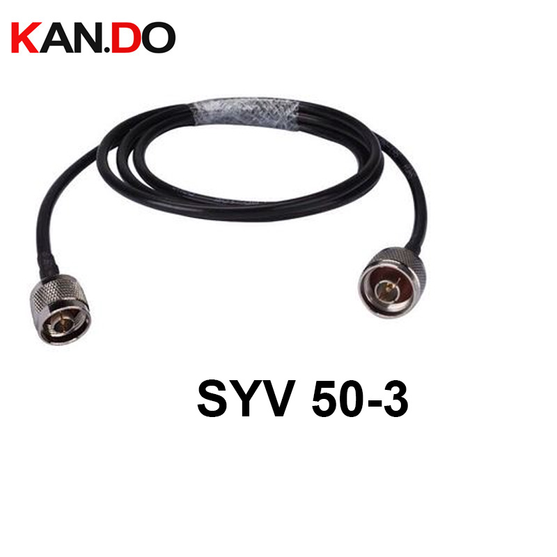 Lower Loss Copper Cable 5-50M 50-3 Copper Coaxial Cable 3G 4G 50Ohm CATV Transmission FEEDER Cable Connector Included