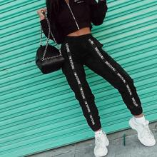 Womens Casual Pants Patchwork Ribbon Pocket Ladies Loose Trousers Outdoor Running Sport Trouser Female Clothing