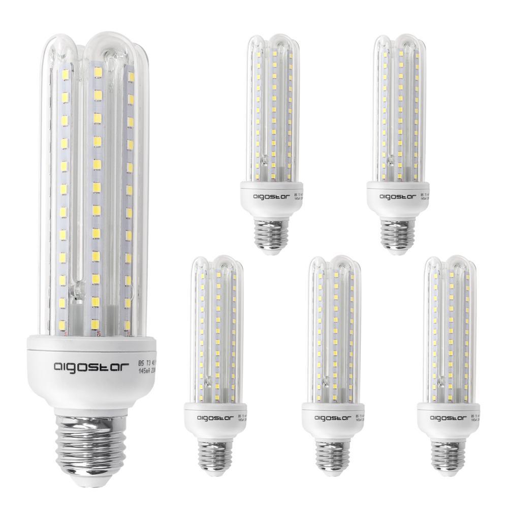 Aigostar - LED Bulbs LED B5 T3 4U E27, 360-degree Large Beam Angle, 19W Equivalent To 160W Incandescent Lights, 1600 Lumens, Col