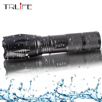 L2 Tactical Led Flashlight Ultra Bright  T6  torch Camping light 5 switch Modes Zoomable Hiking Light 18650 battery Light securitying 20000 lumen 8x xml t6 5 modes led flashlight super bright torch portable light for outdoor camping hiking