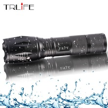 Lanterns L2 Tactical Led Flashlight Ultra Bright T6 torch Camping light 5 switch Modes Zoomable Hiking Light 18650 battery Light