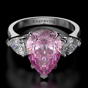 Image 4 - Wong Rain 100% 925 Sterling Silver Pear Created Moissanite Aquamarine Gemstone Wedding Engagement Ring Fine Jewelry Wholesale