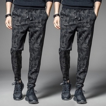Men's Trousers Motion Leisure Trend Pants Male Ankle Banded Loose Trousers Man Camouflage Haren Pants image