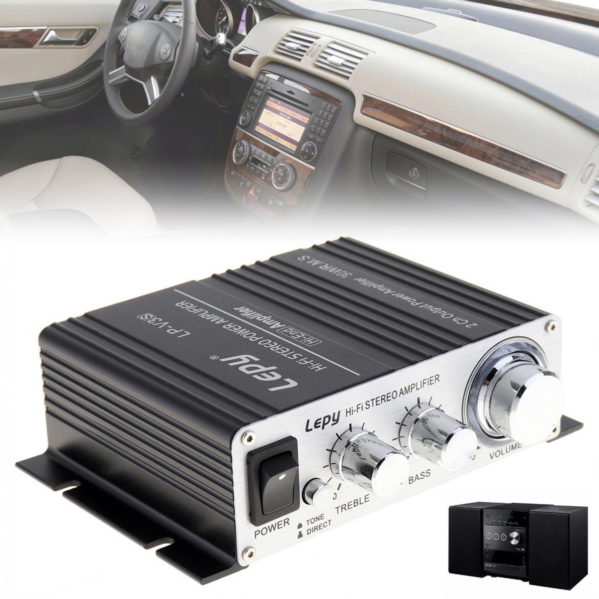 Car Amplifiers Mini 700W Hi-Fi 12V Stereo Amplifier MP3 Motorcycle Car Amp Stereo Amplifier