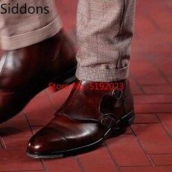 Botas de tornozelo de inverno homens sapatos fivela vintage clássico masculino casual bota zapatos de hombre moda sapatos masculinos d140