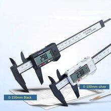 Digital vernier pinças 6 polegada eletrônico vernier caliper 100mm calímetro micrômetro régua digital ferramenta de medição 150mm 0.1mm
