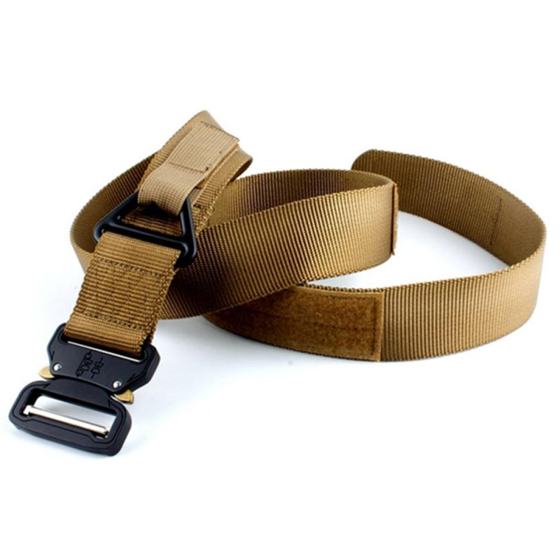 Adults Adjustable All-Match Belt 4.3 Drop-down Vintageoutdoor Mountaineering Multifunctional Cobra Nylon Button Belt For Men's