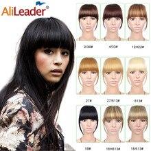 Alileader короткая заколка для волос челка термостойкие синтетические волосы для женщин натуральные короткие накладные волосы челка женские волосы