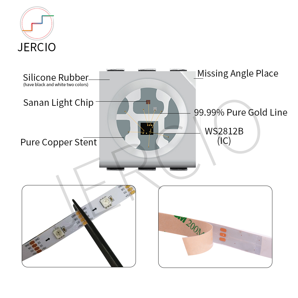 JERCIO WS2813 LED Strip 30 60 144LEDs piexl m ;SMART SK6812 IC Break point resume Double Data Line individual addressable DC5V in LED Strips from Lights Lighting