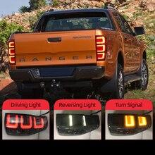 Auto LED Rücklicht Rücklicht Für Ford Ranger 2,2 3,2 2015 2019 Hinten Fahren Lampe + Bremslicht + reverse Licht + Blinker