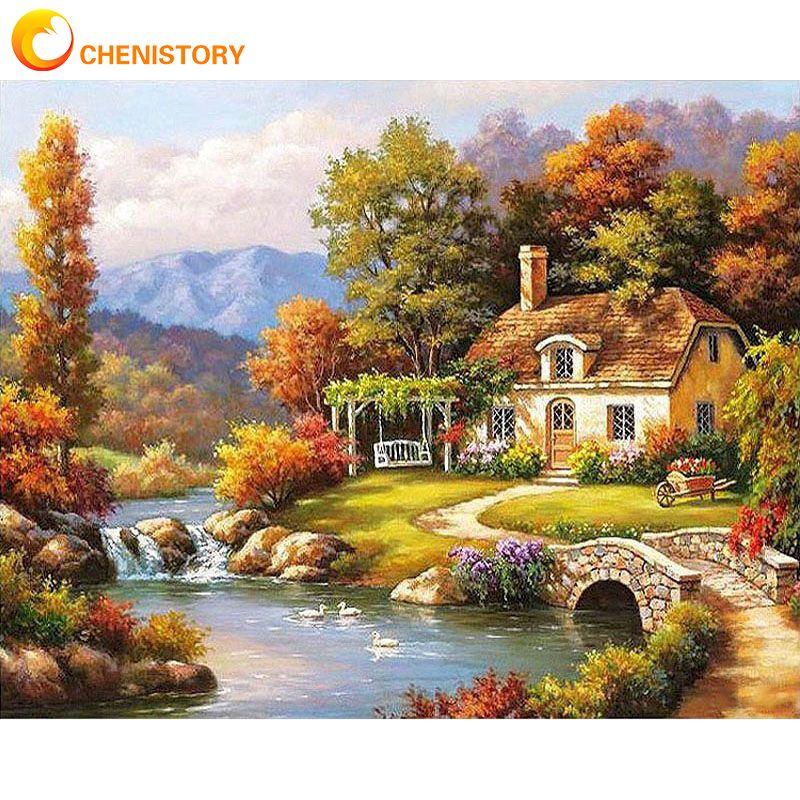 Картина для рисования по номерам на холсте Сказочный пейзаж