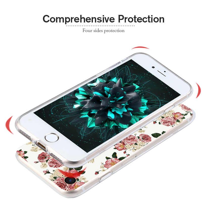 Coque en Silicone pour étuis pour Sony Xperia XA2 en Silicone peint à fleurs pour Sony XA2 H3113 SM12 5.2 pouces