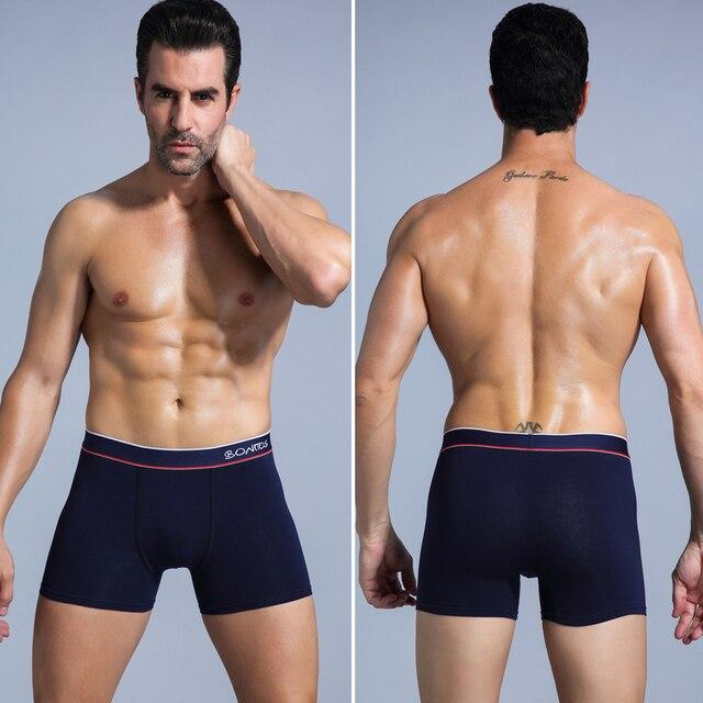 4 Uds. Ropa interior boxer para hombre, calzoncillos de algodón para hombre, conjunto sexy de calecon, talla grande, ropa interior