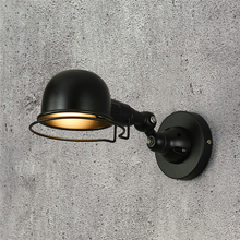 Vintage Wall Lamp Warehouse Loft American Country Retro Industry Iron Lamps Decorative Led Light E14
