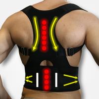 Регулируемые магниты для коррекции осанки для спины Женский Мужской медицинский корсет для терапии Спины Поддерживающий Пояс для спины B002
