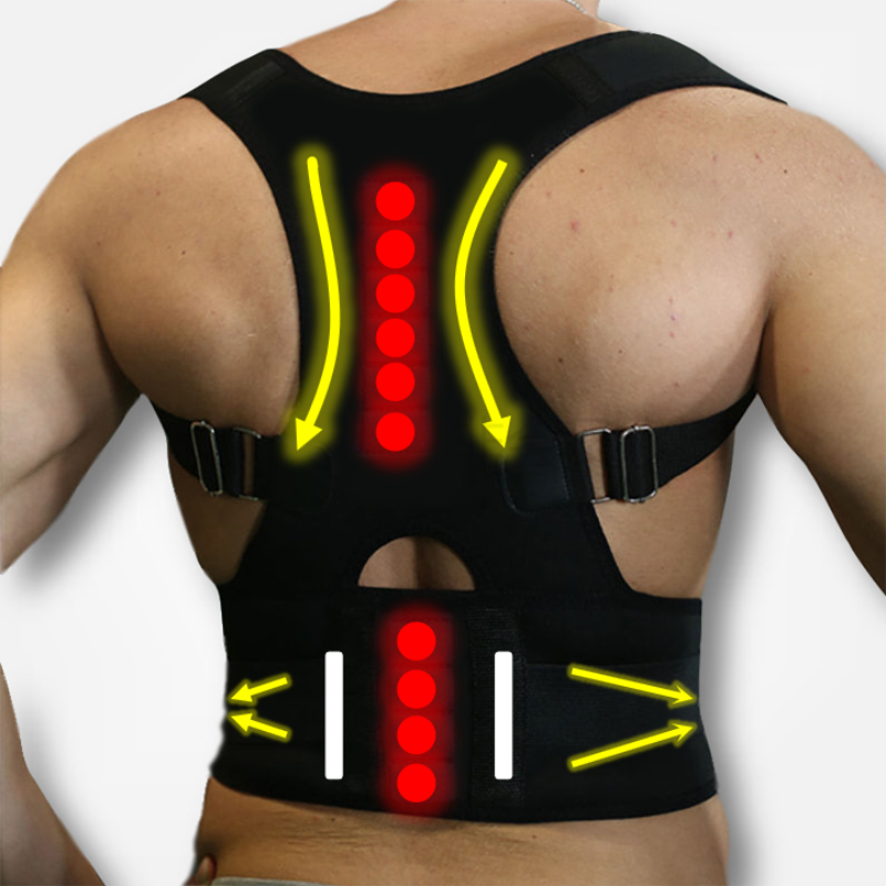 Adjustable Magnets Back Support Posture Corrector Women Men's Medical Corset Back Therapy Posture Brace Back Support Belt B002