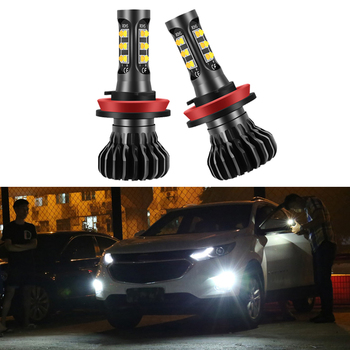 2PCS H11 LED Canbus Fog Light Bulb Lamp H8 H9 For BMW F10 E30 E34 X5 E53 M F20 X3 E87 E70 E92 X1 M3 X6 E38 E46 E39 E60 E36 F30 image