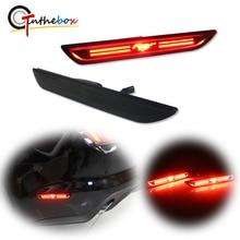 Smoked Lens Red LED 3D Mustang Design Rear Bumper Side Marker Lights For 2010 2014 / 2015 2018 Ford Mustang Fender Marker Lights