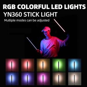 Image 3 - YONGNUO YN360 Handheld LEVOU Luz De Vídeo 3200k 5500k RGB Colorido 39.5 CENTÍMETROS de GELO Vara Foto Profissional LEVOU Vara (apenas diodo emissor de luz)