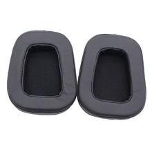 Coussinets d'oreille en mousse de cuir de mouton de remplacement coussins casque antibruit pour G933 G633 Surround casque de jeu coussin de haute qualité
