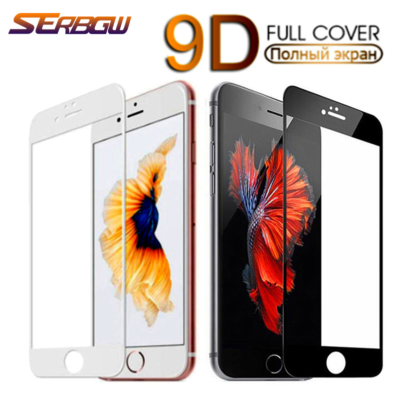 9D Safety Full Protection Glass For iPhone 7 8 6 6S 5 5S SE 2020 Tempered Screen Protector For iPhone 6 6S 7 8 Plus Glass Film 1