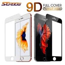 9D полное безопасное защитное стекло для iPhone 7, 8, 6, 6S, 5 5S SE 2020 протектор экрана из закаленного стекла для iPhone 6, 6S, 7, 8 plus, стеклянная пленка