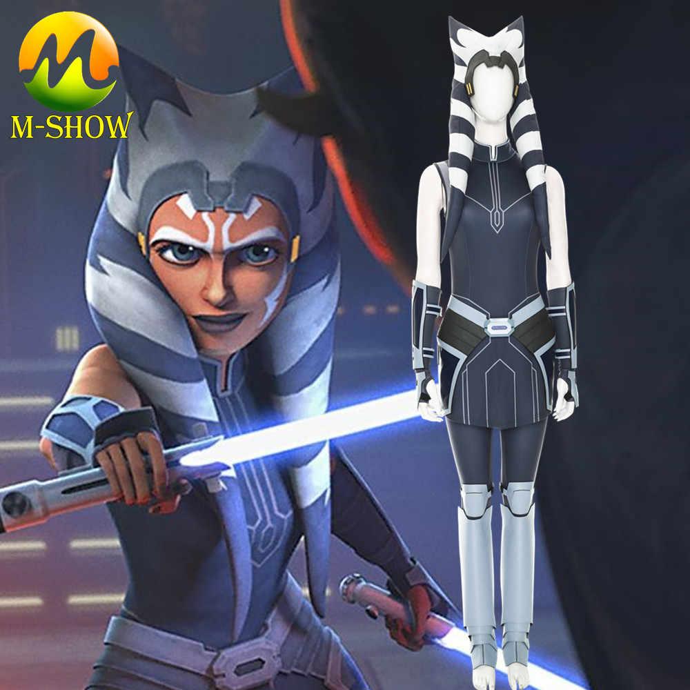 Star Wars The Clone Wars Season 7 Ahsoka Tano Cosplay Costume Outfit Uniform