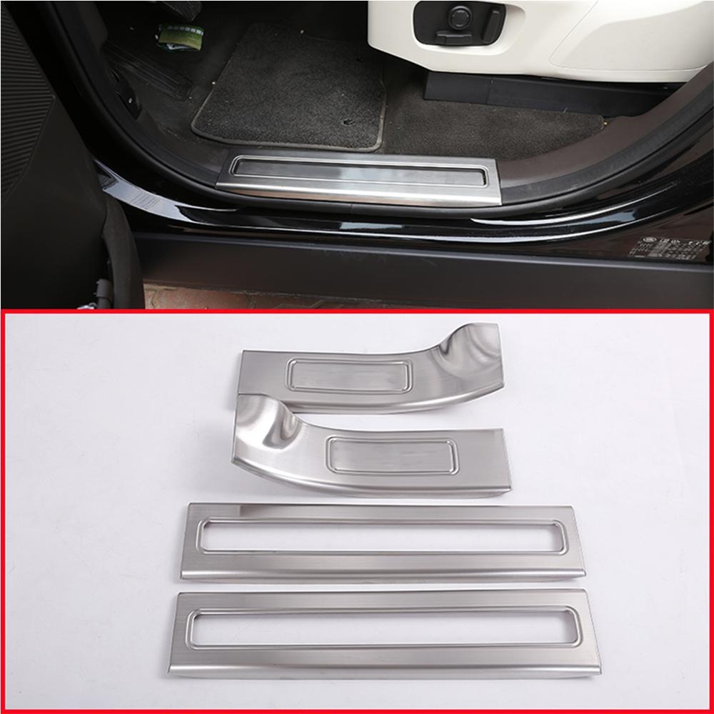 4* Inner Door Sill Scuff Plate Threshold  For Land Rover Range Rover Velar 17-19