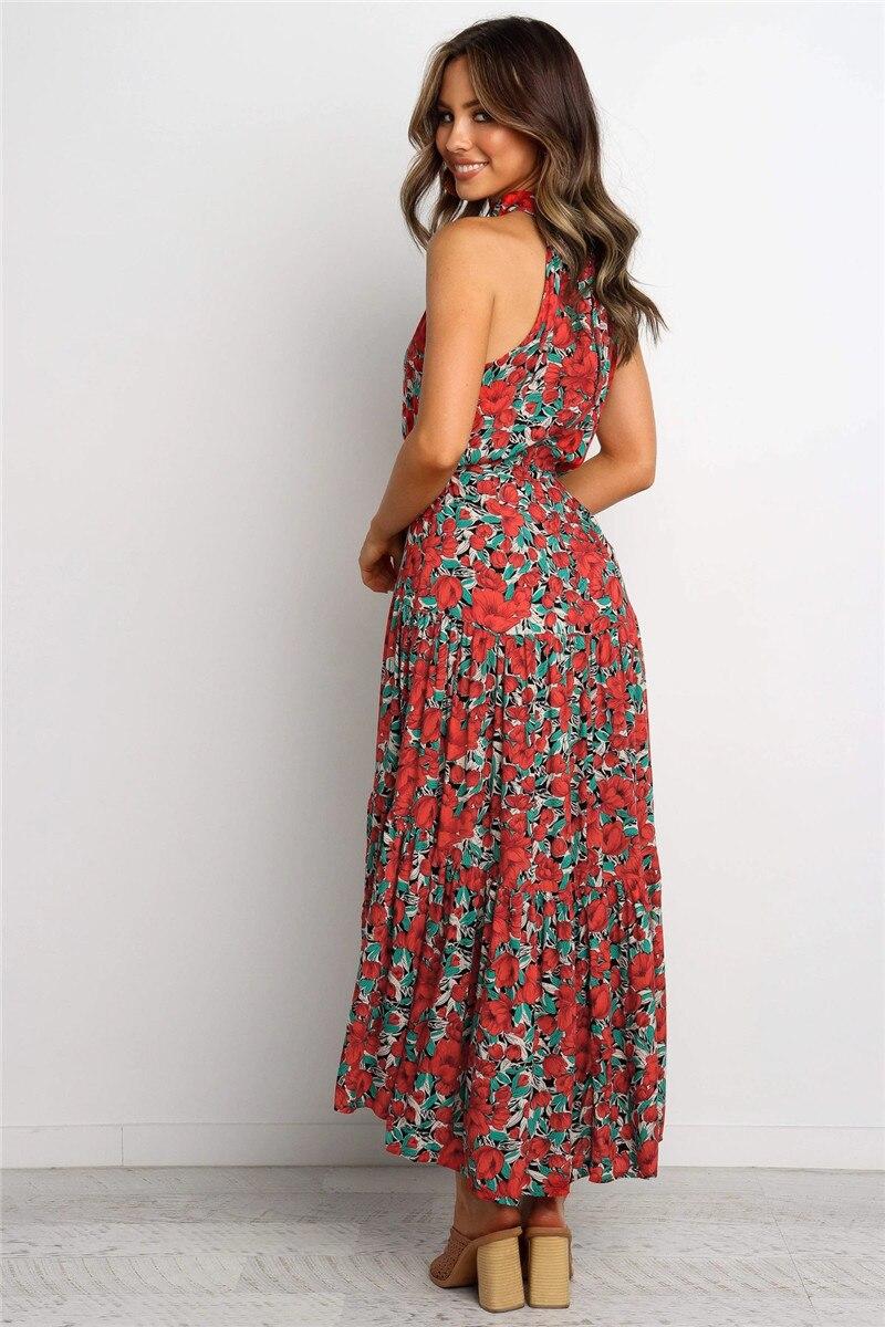 halter midi boho summer dress16