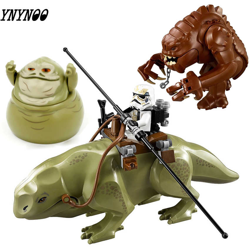 Rancor Planeet Movie Wars Blokken Legoinglys Star Wars Model Cartoon Speelgoed Kinderen Dewback Figuur Jabba