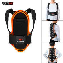 WOSAWE Children Sports Back Protector Vest Roller Skating Skiing Special Removabe Sports Kids Protective Armor Protective Gear