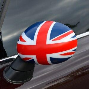 Image 1 - اكسسوارات السيارات التصميم الخارجي لسيارة ميني كوبر F54 F55 F56 F57 F60 سيارة مرآة الرؤية الخلفية ملصق مزخرفة غطاء حامي