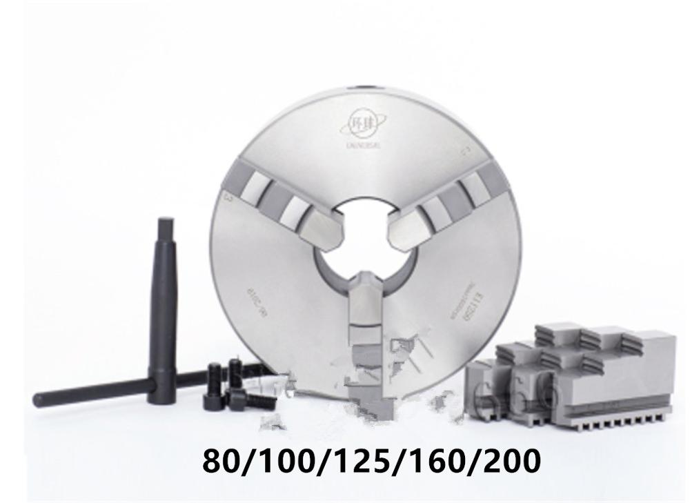 Mandrins de tour K11-80/100/125/160 mandrin de tour à 3 mâchoires outil réversible durci à centrage automatique pour le perçage du travail du bois
