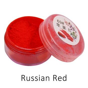 1g Per Bottle Russian Red Color Long Lasting Lip Gloss Pigment Mica Powder Lipstick Powder For Comestic Makeup