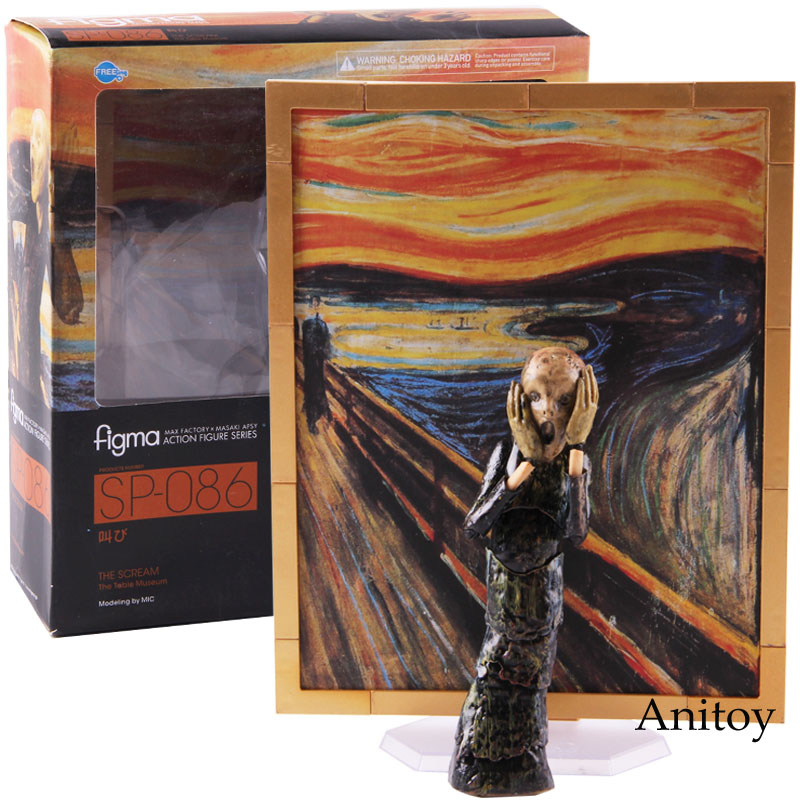 Figma SP-086 The Scream The Table Museum Desk Art Gallery PVC Figma Action Figure Collectible Model Toy