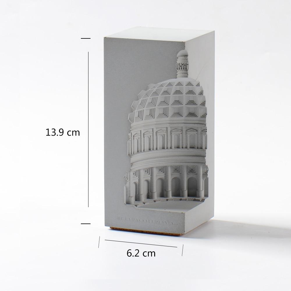 Przy criativo molde de silicone cimento design
