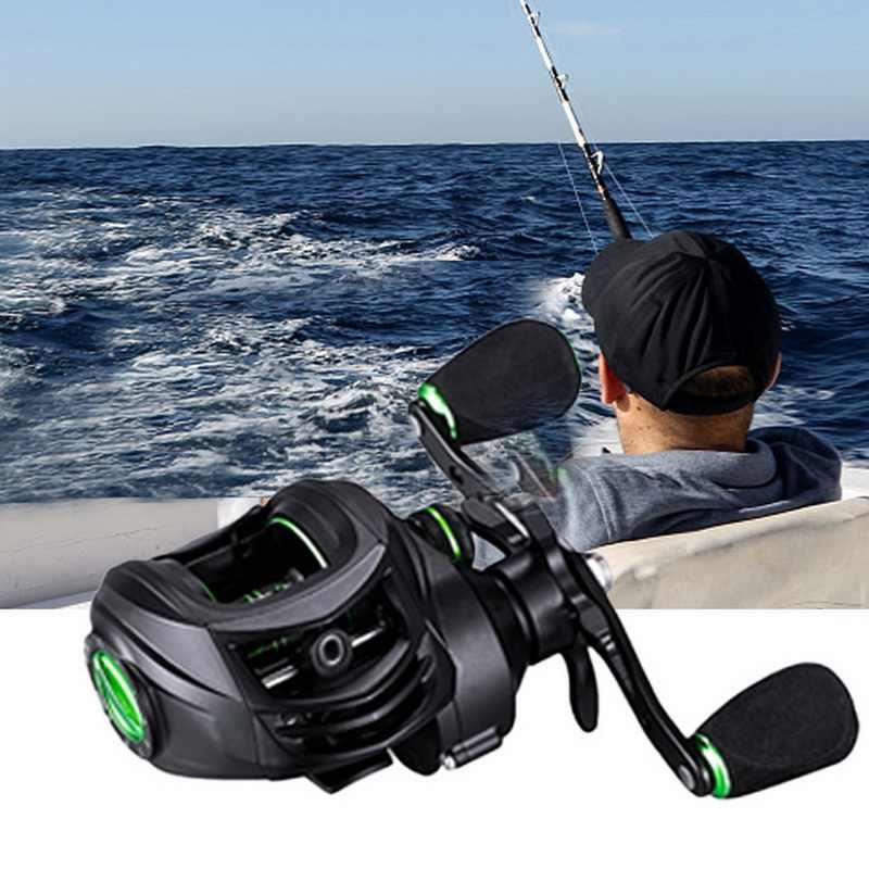 2020 بكرة صيد جديدة رائعة بكرة غزل بايك بكرة بمقبض للخط ملحقات صيد للمياه المالحة غلاف كربون خفيف الوزن 213 جم