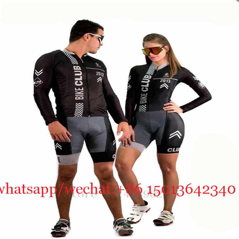 2019 Couple Memakai Frenesi Pria Bersepeda Pakaian Musim Panas Wanita Lengan Panjang Celana Ketat Sepeda Jersey Set Seragam Ciclismo Triathlon Suit