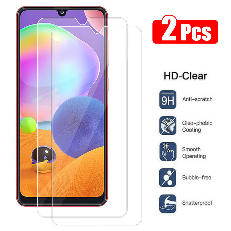 2Pcs 9H Protective Glass For Samsung Galaxy A31 Screen Protector Samsun A41 Tempered Glass on Galaxi A 31 41 Clear Safety Glas