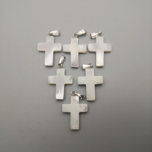 Image 3 - wholesale fashion Cross Natural shell Pendants for jewelry making charm diy necklace accessories 36pcs/lot