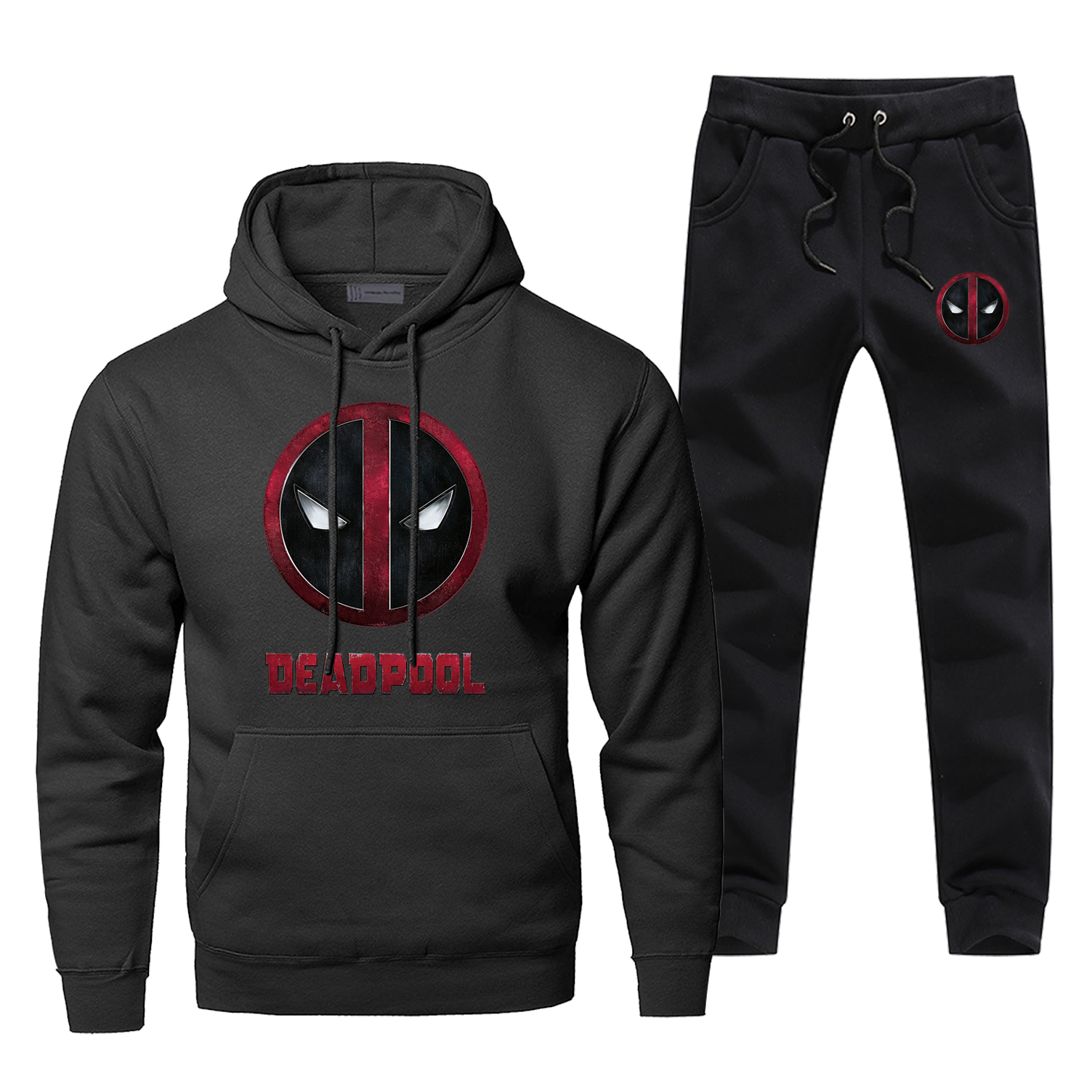 Dead Poll Hoodies Pants Set Men Super Hero Deadpoll Hoodie Sweatshirt Mens Hoodies Pollover 2 Piece Set Streetwear Sweatshirts
