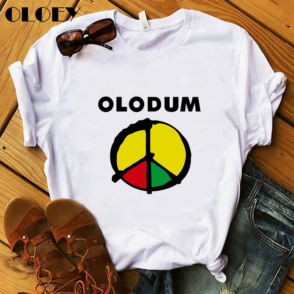 Summer Vintage Antiwar Michael Jackson OLODUM T Shirt Women Harajuku MJ Tshirt 2020 O-Neck White Camiseta Mujer Female Clothes