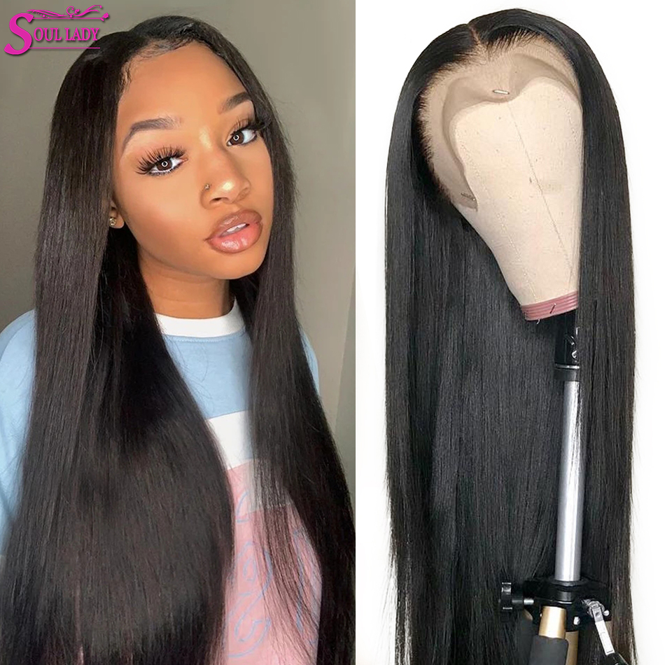 4x4 5x5 6x6 парик на шнуровке Remy перуанские прямые волосы, предварительно собранные человеческие волосы, 30-дюймовый парик на шнуровке 150% Плотнос...