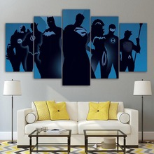 Modern Living Room HD Print 5 Pieces Comics Superheroes Modular Pictures Cuadros Decoration Wall Art Canvas Paintings Frameworks