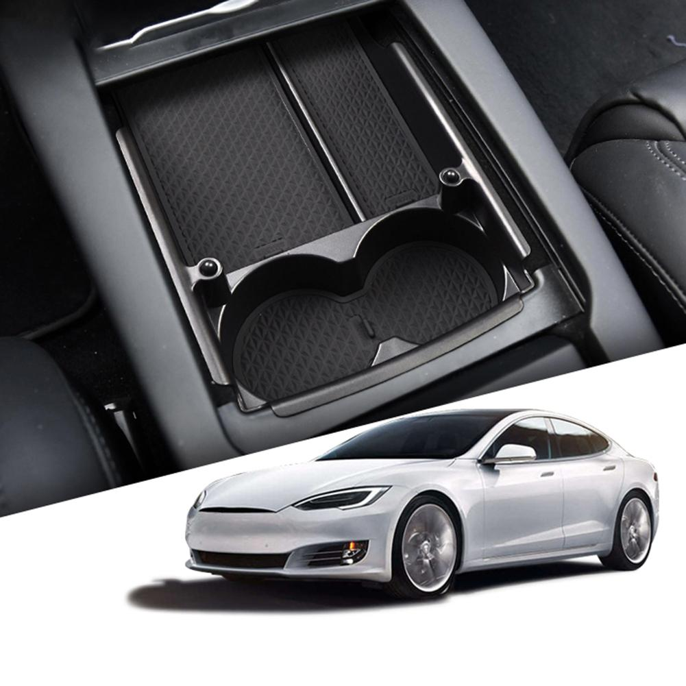 Car Center Console Armrest Storage Tray Box For Tesla Model S X