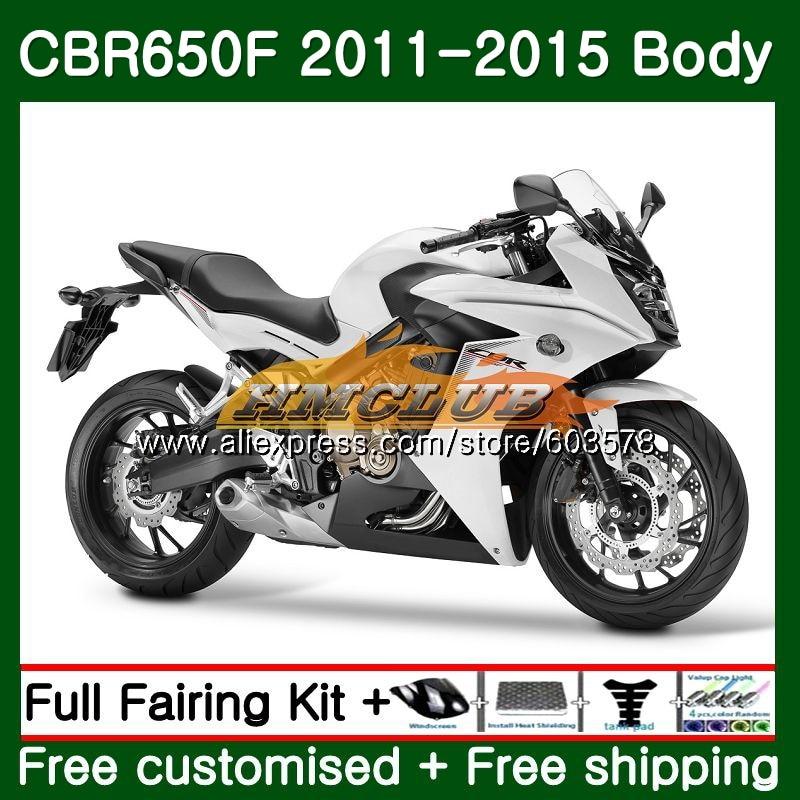 CBR-650F Pour HONDA CBR 650F 650 F 2011 2012 2013 2014 2015 130CL. 8 CBR650 F CBR-650 CBR650F 11 12 13 14 15 Perle Blanc Carénage